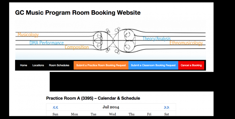 Check out the NEW Practice Room Booking Website!
